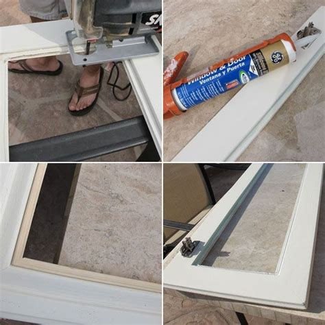 adding glass to kitchen cabinets how to add glass inserts into your kitchen cabinets