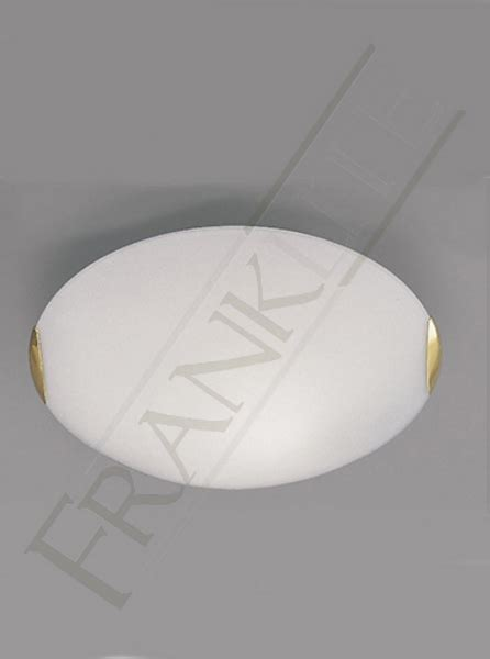 Low Energy Flush Ceiling Lights Franklite Cf5023el 1 Light Low Energy Flush Ceiling Light With Opal Glass And Brass Finish Clasps