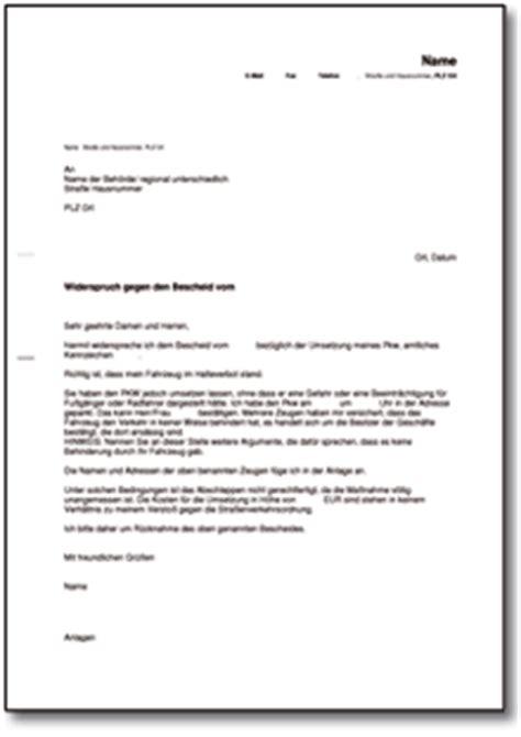 Musterbrief Widerspruch Gegen Rundfunkbeitrag widerspruch gegen abschleppen eines pkw de musterbrief