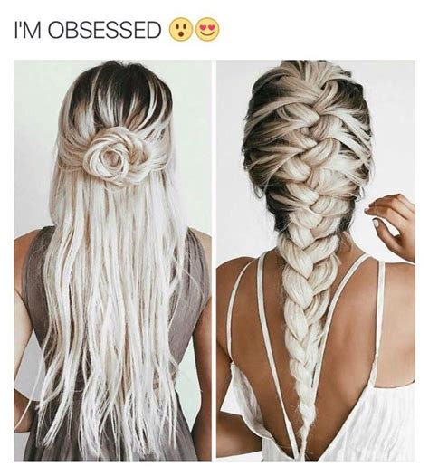 hairstyles without dying roots love this colour bleach white blonde with long dark