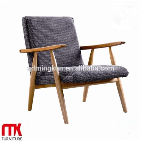 wood frame armchair lasted long hot sale wooden frame armchair with fabric