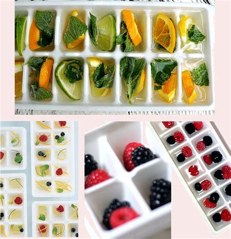 cozinha incomum gelo aromatizado com frutas ou flores