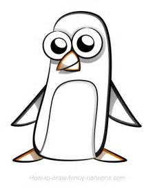 penguin drawings sketching vector