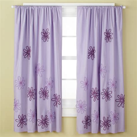 Children S Happy Life Girls Curtains Girls Purple Flower