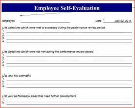 employee self evaluation form proposalsheet com