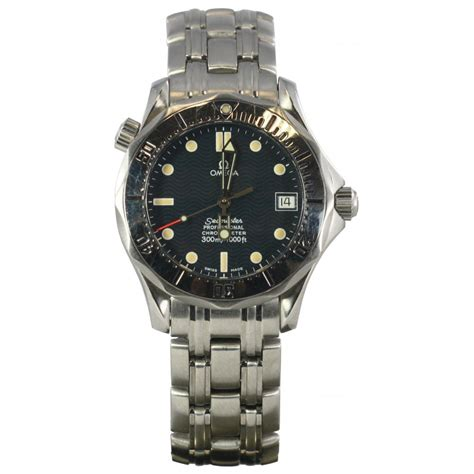 pre owned omega mens seamaster blue pre owned omega