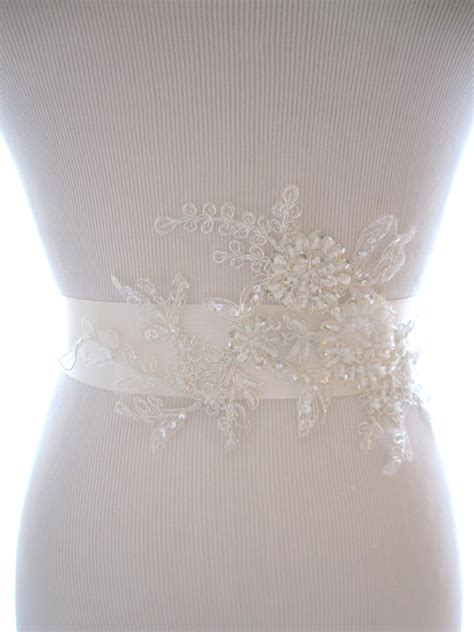 beaded sash lovely beaded lace bridal sash wedding belt wedding sash