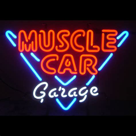 Neon Garage Signs by Car Garage Neon Sign Neon4less