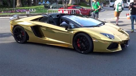 lamborghini aventador gold gold lamborghini aventador roadster at top marques monaco