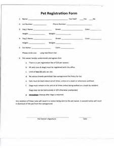 pet registration form 2 free templates in pdf word