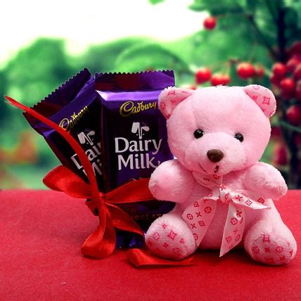 Flowers Delivery Usa - chocolate for love gift chocolate for love 2 teddy bears holding heart 2 inches 2 pieces