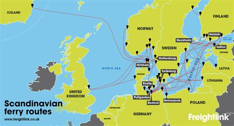 map uk ferry routes how do i get a freight ferry from uk to sweden