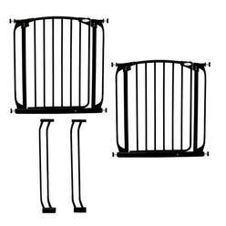 safety first espresso swing gate baby gates child safety gates sears