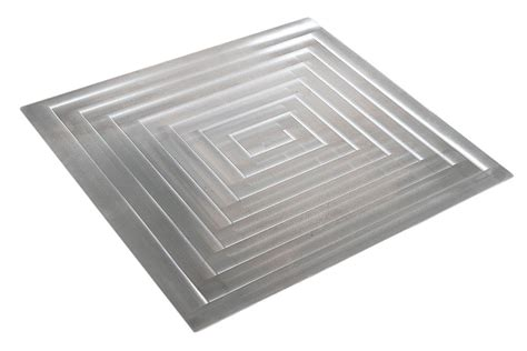 stainless steel 1 quot x 3 quot and surf glass kitchen backsplash bon chef 52103 ez fit rectangle stainless steel 1 1 2 size