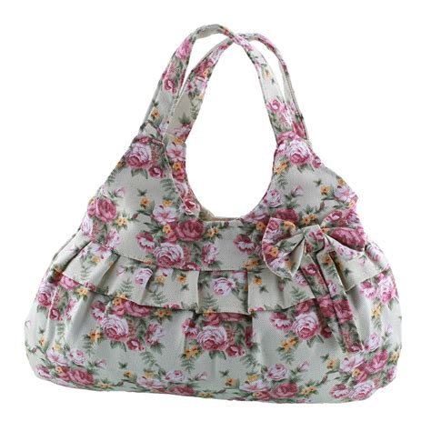 Handbag Flower 761 5 new sweet flower leopard print canvas zipper bowknot handbag bag ebay
