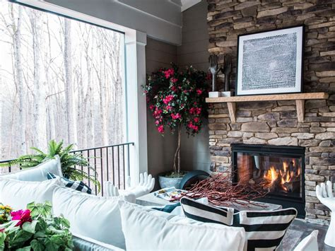 clean  stone fireplace diy