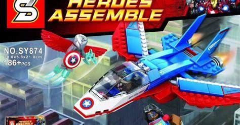 Sy 874 Captain America Jet Pursuit downtheblocks sheng yuan sy874 captain america and kamala khan vs adaptoid