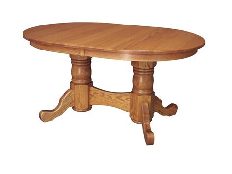 dining room table pedestal amish custom double pedestal dining table