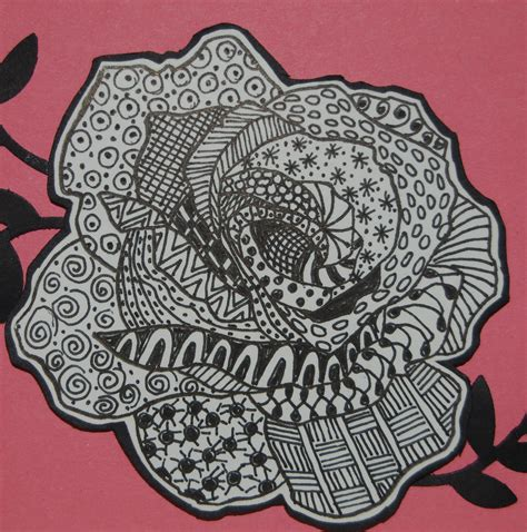 zentangle pattern rose the gallery for gt simple zentangle patterns step by step