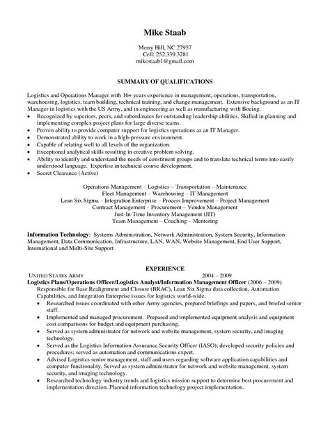 sle resumes for logistics specialists best solutions of sle resume sle resume sles for