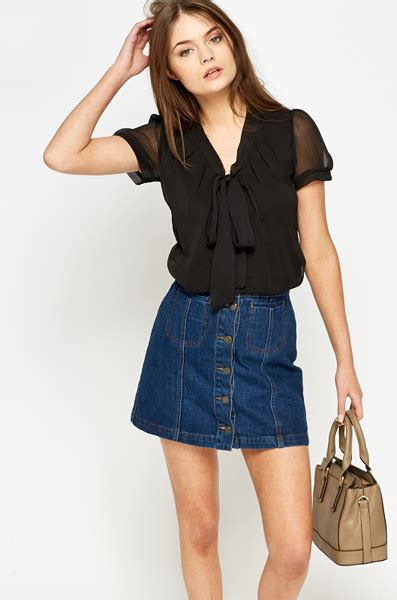 Halter Neck Pussybow Tops From Victorias Secret by Black Blouse With Bow Baggage Clothing