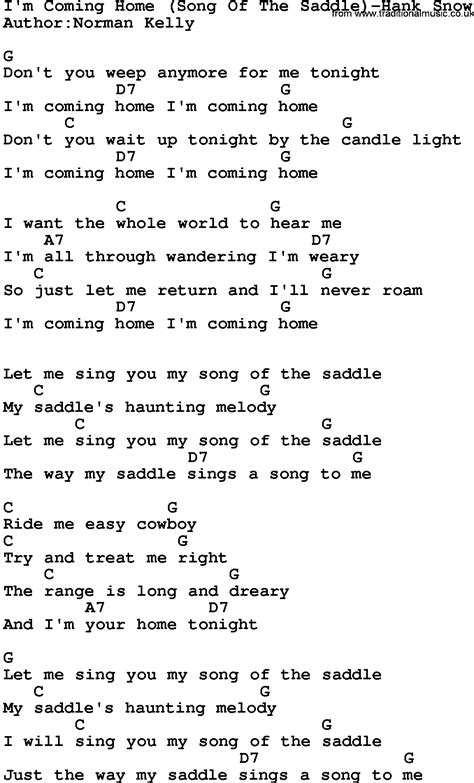 country i m coming home song of the saddle hank