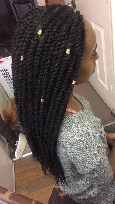 crotch individual braids into hair single strand marley twist by soexquisitebraids get