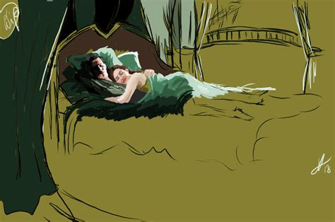 What Is A Good Size Tv For A Bedroom Wip Good Morning Asgard Loki X Sigyn By Waspany On Deviantart