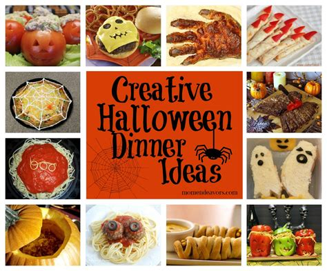 links to lots of creative halloween dinner ideas side dishes via momendeavors com