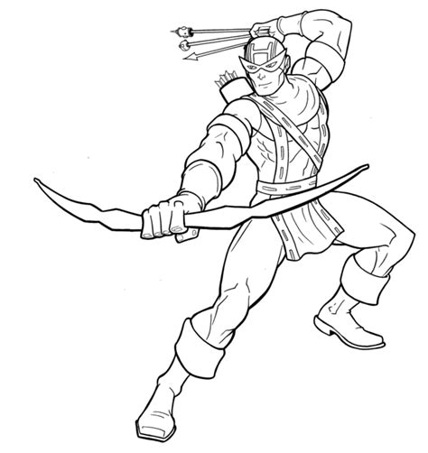 avengers coloring pages hawkeye hawkeye inks by thuddleston on deviantart