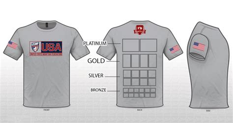Sponsorship Opportunities Available For The 2018 Usmf World Chionship Team Muaythai Usa Shirt Sponsor Template