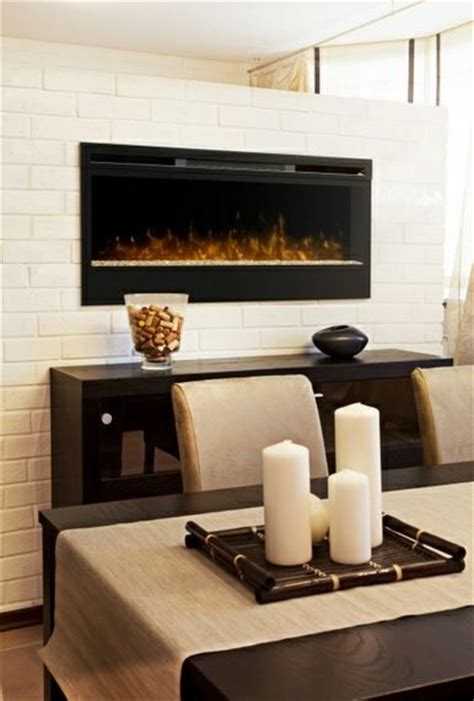 Dining Room Electric Fireplace Chic Dining Rooms Contemporary Dining Room Other