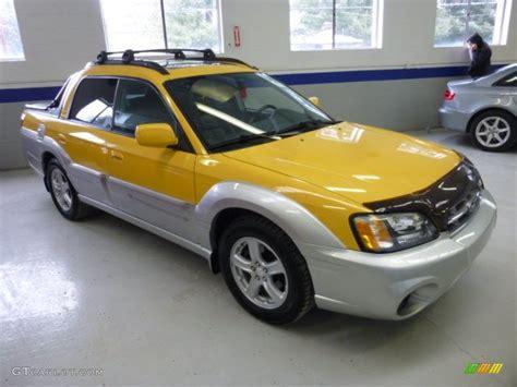 yellow subaru baja baja yellow 2003 subaru baja standard baja model exterior