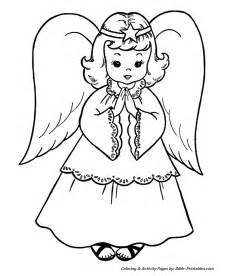 coloring pages angel tree christmas scene coloring