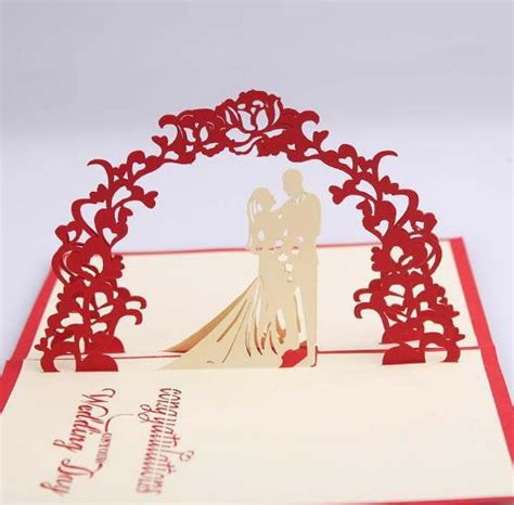 3d Wedding Card Template by Aliexpress Acheter Douce D 233 Coupage De Voeux