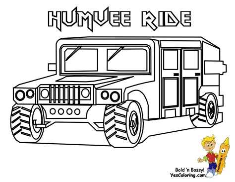 army humvee drawing