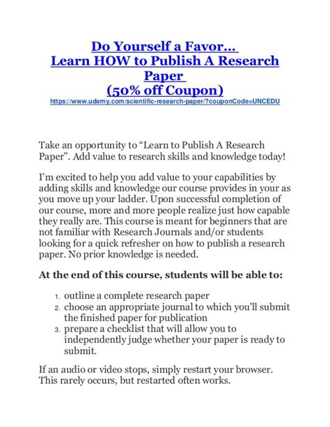 for publishing research papers research paper journal