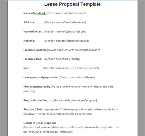 bank proposal template