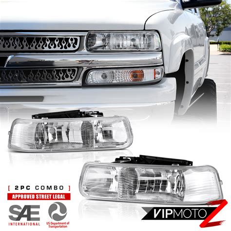 pair of crystal ls 00 06 chevy tahoe suburban new pair crystal clear