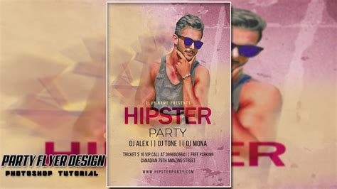 flyer design tutorial photoshop cs6 photoshop cs6 tutorial how to make hipster party flyer