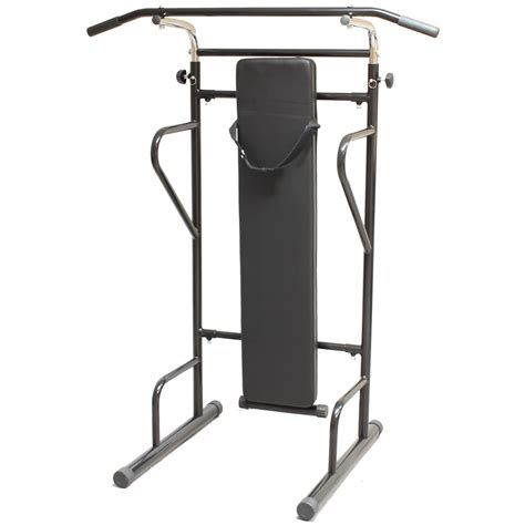 dip bench station fitness power tower dip station sit pull press chin up