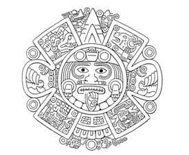 aztec coloring pages aztec calendar drawing calendar template 2016