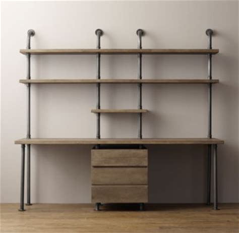 metal pipe desk industrial pipe desk shelving with drawers