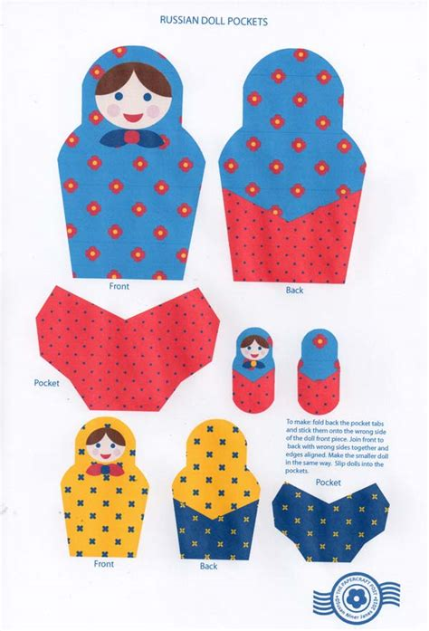 Papercraft Dolls - the papercraft post russian doll pockets print and cut