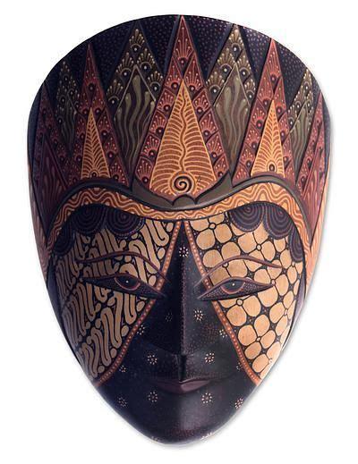 Batik Sultan B mahogany batik mask jogjakarta sultan by novica the