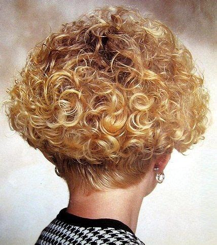 stacked permed hairstyle big perm short stacked bob perm style curls