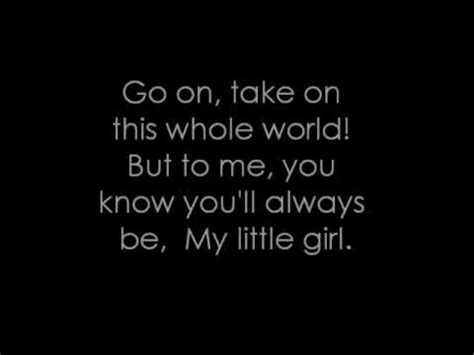 tim mcgraw for a little while mp my little girl tim mcgraw lyrics youtube