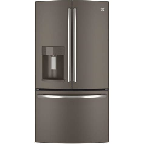 ge 27 8 cu ft door refrigerator in slate