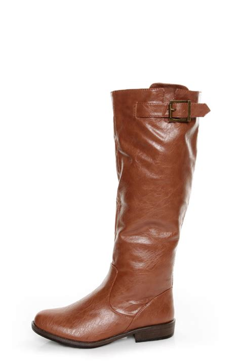 bamboo montage 01n chestnut knee high boots 46 00