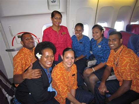Fiji Airways Cabin Crew by Fiji Air Pacific And Island Hopping Trip Reports Forum